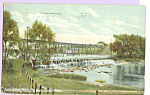 Click here to enlarge image and see more about item p22991: The Dam  Huron River Ann Arbor Michigan p22991