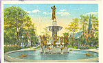 Click here to enlarge image and see more about item p23028: De Pew Fountain University Park Indianapolis IN p23028