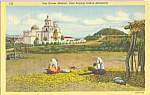 Click here to enlarge image and see more about item p23077: San Xavier Mission From Papagpo Indian Settlement p23077