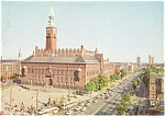 Click here to enlarge image and see more about item p2323: Copenhagen Town Hall Square Postcard