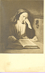 An Old Woman Dozing Overa Book Nicolas Maes Postcard p23269