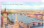 Click here to enlarge image and see more about item p23281: Big Ben and The River Thames