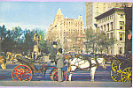Click here to enlarge image and see more about item p23289: Carriages on 59th Street