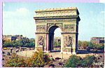 Click here to enlarge image and see more about item p23318: La Place de l Etoile et l Arc de Triumphe Paris France p23318
