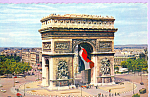 Click here to enlarge image and see more about item p23325: Paris France l Arc de Triumphe p23325