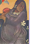 Woman of Tahiti Paul Gauguin Postcard p23326