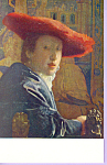 The Girl With The Red Hat Vermeer Postcard p23328