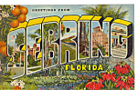 Click here to enlarge image and see more about item p23422: Greetings from Sebring Florida Big Letter