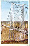 Click here to enlarge image and see more about item p23582: Suspension Bridge over Royal Gorge Colorado p23582