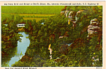 Click here to enlarge image and see more about item p23595: Big Piney River and Bridge Missouri p23595
