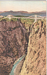 Click here to enlarge image and see more about item p23626: Royal Gorge,Colorado Suspension Bridge,Hand Colored
