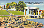 Portico over Plymouth Rock and Plymouth Rock Hotel