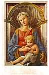 Madonna and Child Fra Filippo Lippi Postcard p23677