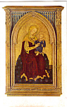 Madonna and Child Gentile Da Fabriano Postcard p23682