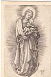 Click here to enlarge image and see more about item p23689: Madonna with Short Hair Albrecht Durer Postcard p23689