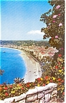 Click here to enlarge image and see more about item p2376: Nice France Shoreline Postcard p2376
