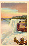 American Falls From Goat Island Postcard p23798