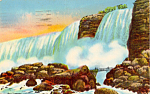 American Falls and Rock of Ages Postcard p23861