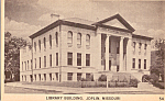 Click here to enlarge image and see more about item p23862: Library Building Joplin Missouri p23862