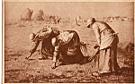 Click here to enlarge image and see more about item p23879: Three Women Gleaning Postcard p23879