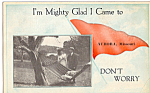 Click here to enlarge image and see more about item p23898: Don t Worry Sentimental Pennant Aurora MO  p23898