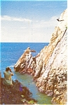 Click here to enlarge image and see more about item p2392: Cliff Diver Mexico Postcard