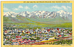 Salt Lake City  Utah and Wasatch Mounatins p23994