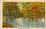 Click here to enlarge image and see more about item p24026: Autumn Stream Scene, Bryan, Ohio