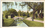 Click here to enlarge image and see more about item p24139: Scene in City Park, New Orleans