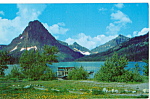 Click here to enlarge image and see more about item p24170: Two Medicine Lake Glacier National Park MT p24170