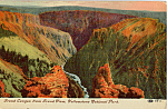 Grand Canyon From Grand View Yellowstone National Park