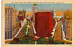 Click here to enlarge image and see more about item p24253: Grand Circus Park Washington Blvd and Statler Hotel Detroit MI p24253