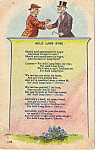 Click here to enlarge image and see more about item p24299: Auld Lang Syne Postcard p24299