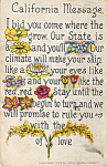California Message by Mrs Stella Gilbert