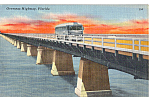 Click here to enlarge image and see more about item p24301: Greyhound Bus on Florida Overseas Highway