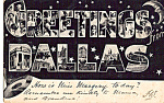 Click here to enlarge image and see more about item p24306: Big Letter Postcard of Dallas Texas p24306