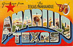 Big Letter Postcard of Amarillo, Texas in the Panhandle p24308