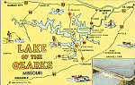 Map of Lake of the Ozarks Missouri p24309