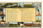 Poem Down in Oklahoma Postcard p24327