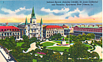 Click here to enlarge image and see more about item p24340: Jackson Square Showing Cabildo,St Louis Cathedral