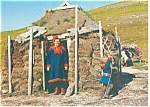 Norway Lapps in their  Turf Hut Postcard