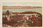 Click here to enlarge image and see more about item p24484: Le Port Quebec Canada The Harbour Postcard p24484
