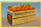 Click here to enlarge image and see more about item p24495: Sunkist Orange Box Postcard p24495