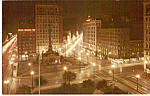 Click here to enlarge image and see more about item p24513: Clevelands Public Square at Night