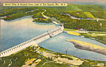 Click here to enlarge image and see more about item p24526: Bagnell Dam Lake of the Ozarks MO Postcard p24526
