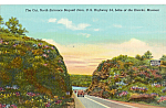 Click here to enlarge image and see more about item p24530: North Entrance Bagnell Dam Lake of the Ozarks Car 40s p24530