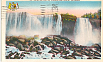 American Falls and Cave of the Winds Postcard p24580