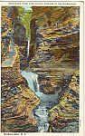 Click here to enlarge image and see more about item p24671: Minnehaha Falls with Cavern Cascade Watkins Glen NY p24671