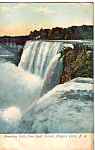Click here to enlarge image and see more about item p24710: American Falls from Goat Island Postcard p24710