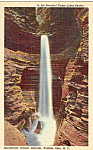 Click here to enlarge image and see more about item p24711: Cavern Cascade Watkins Glen NY Postcard p24711